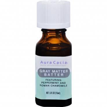 Aura Cacia Essential Solutions Oil Gray Matter Batter - 0.5 fl oz
