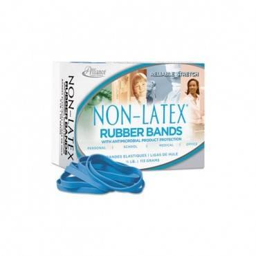 Antimicrobial Non-Latex Rubber Bands, Sz. 64, 3-1/2 X 1/4, 1/4lb Box