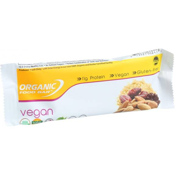 Organic food bar vegan 2 4 oz bars case of 12 for Organic food bar