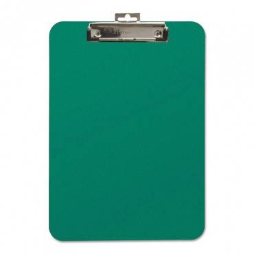 """Unbreakable Recycled Clipboard, 1/4"""" Capacity, 8 1/2 X 11, Green"""