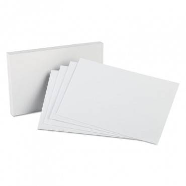 Unruled Index Cards, 5 X 8, White, 100/pack
