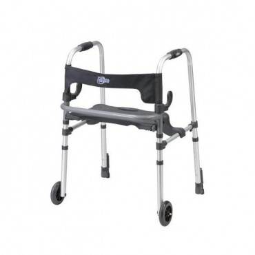 Drive Medical Clever-Lite Walker w/Seat & Push-Down Brakes Part No.10233