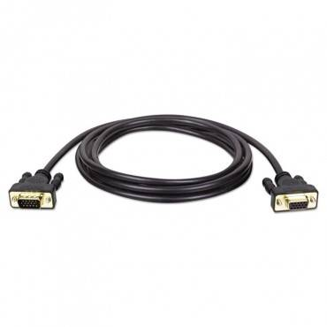Vga Monitor Extension Cable, Hd15 Female To Hd15 Male,10 Ft, Black
