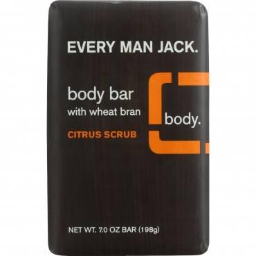 Every Man Jack Bar Soap - Body Bar - Citrus Scrub - 7 oz - 1 each