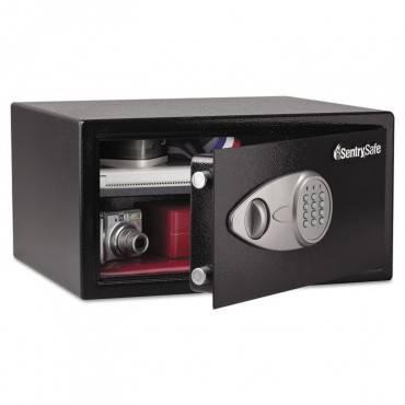 Electronic Lock Security Safe, 1.0 Ft3, 16 15/16w X 14 9/16d X 8 7/8h, Black