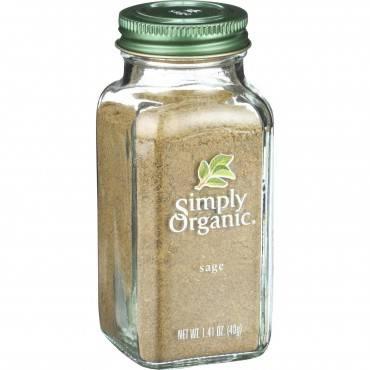 Simply Organic Sage Leaf - Organic - Ground - 1.41 oz