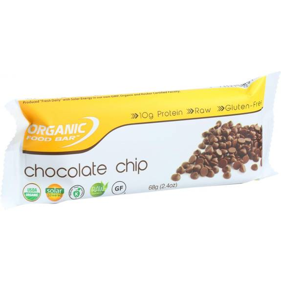 Organic food bar belgium chocolate chip 68 g bars for Organic food bar