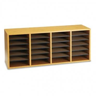 Wood/laminate Sorter, 24 Sections, 39 1/4 X 11 3/4 X 16 1/4, Medium Oak
