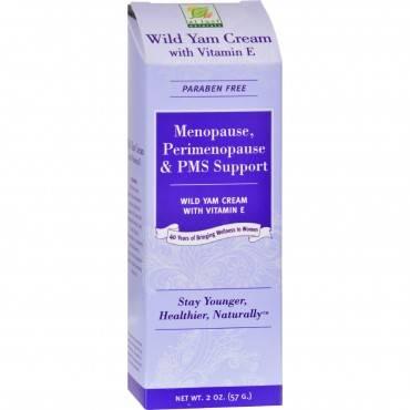 At Last Naturals Wild Yam Cream with Vitamin E - 2 oz