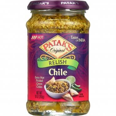Pataks Relish - Chile - Hot - 10oz - case of 6