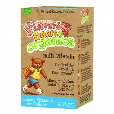 Yummy Bears Organics Multi Vitaminand Mineral - Gummy - Children - 90 Count