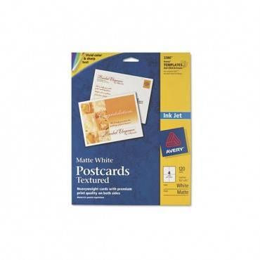 Textured Postcards, Inkjet, Heavyweight, 4 1/4 X 5 1/2, Matte White, 120/box