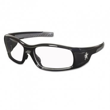 Swagger Safety Glasses, Black Frame, Clear Lens