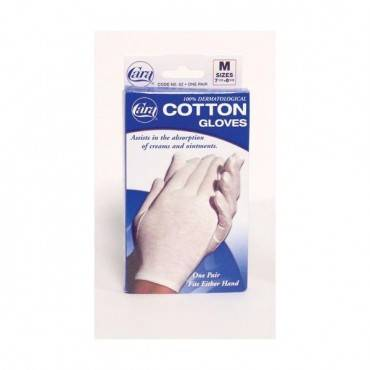Cara Inorated Cotton Gloves - White Small (Pair) Fits 6-1/2 -7-1/2 Part No.81