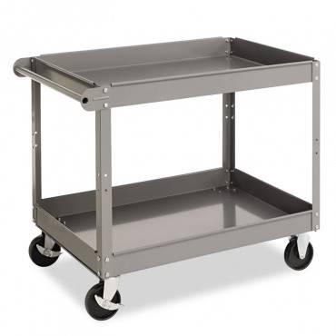 Two-Shelf Metal Cart, 24w X 36d X 32h, Gray