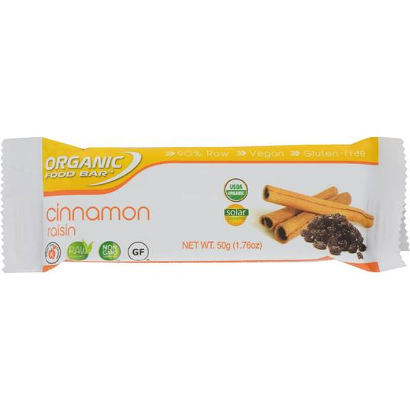 Organic Food Bar Cinnamon Raisin