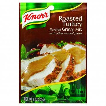 Knorr Gravy Mix - Roasted Turkey Flavored - 1.2 oz - Case of 12