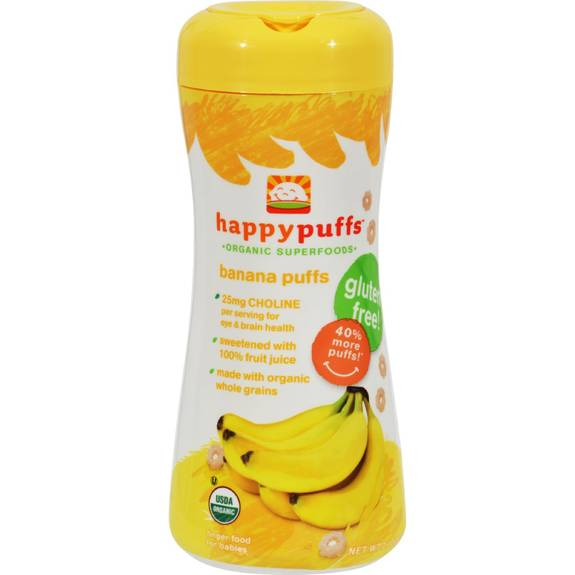 Happy Baby Banana Puffs Finger Food Organic   Oz