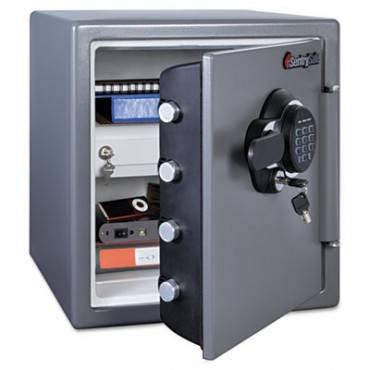 Electronic Fire Safe, 1.23 Ft3, 16 3/8w X 19 3/8d X 17 7/8h, Gunmetal Gray