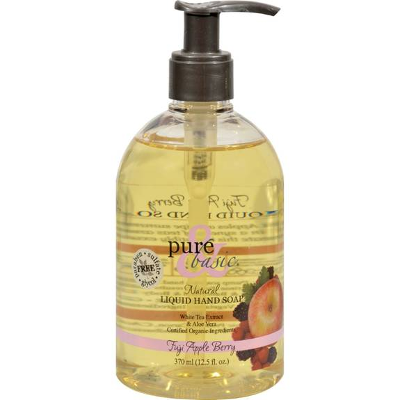 Pure And Basic Natural Liquid Hand Soap Fuji Apple Berry