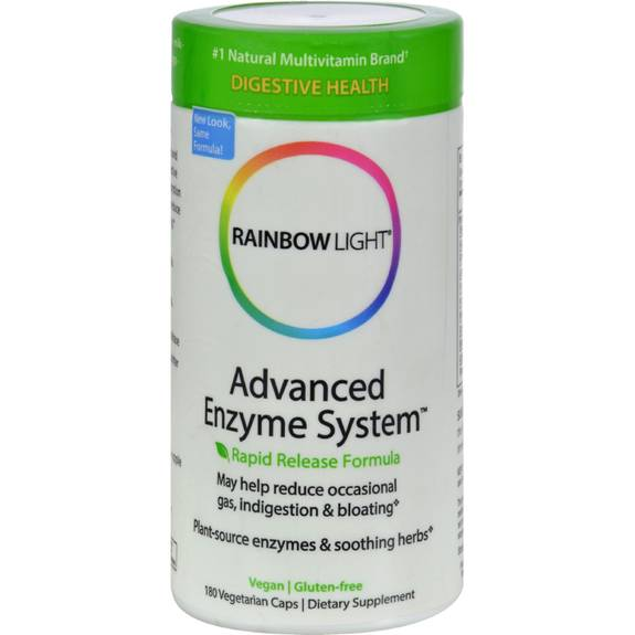 rainbow light advanced enzyme system 180 vegetarian capsules. Black Bedroom Furniture Sets. Home Design Ideas