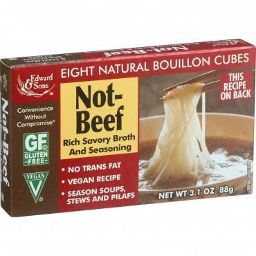 Edwards and Sons Natural Bouillon Cubes - Not Beef - 3.1 oz - Case of 12