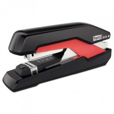 Supreme Omnipress So60 Heavy-Duty Full Strip Stapler, 60-Sheet Cap., Black/red