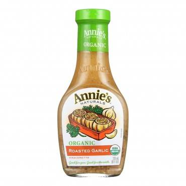 Annie's Naturals Vinaigrette Organic Roasted Garlic - Case of 6 - 8 fl oz.