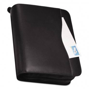 Verona Leather Starter Set, 8 1/2 X 11, Black Cover