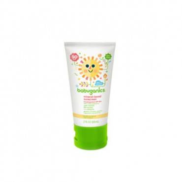 Babyganics Mineral-Based Sunscreen, 50 SPF, 2 oz Part No. 12474 Qty 1