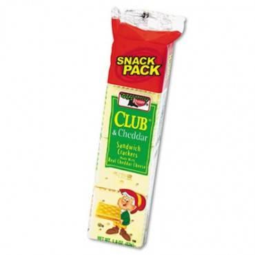 Sandwich Cracker, Club & Cheddar, 8 Cracker Snack Pack, 12/box