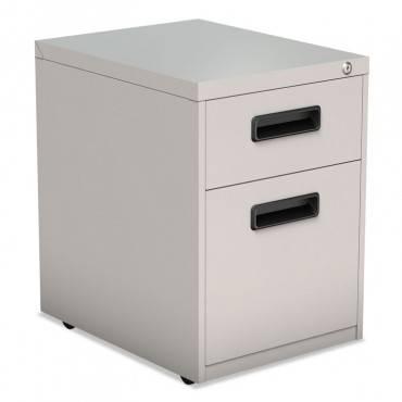 Two-Drawer Metal Pedestal File, 14 7/8w X 19 1/8d X 21 3/4h, Light Gray