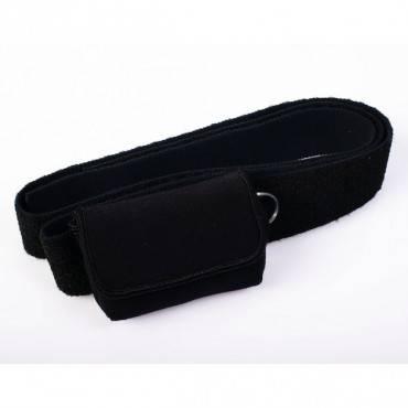 Waist-It Pouch with Elastic Straps, Black Part No. ACC-255BK Qty 1