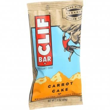 Clif Bar Organic Energy Bar - Carrot Cake - Case of 12 - 2.4 oz Bars