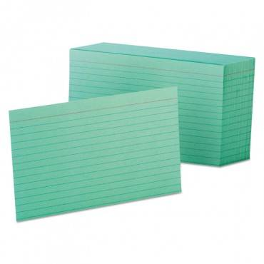 Ruled Index Cards, 4 X 6, Green, 100/pack