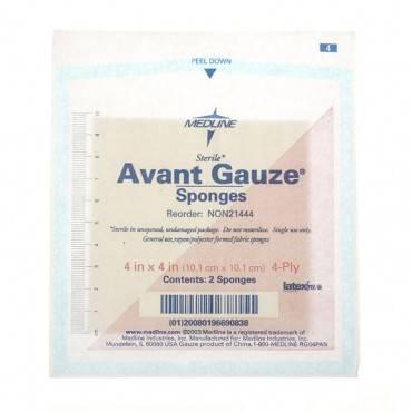 """Avant Non-Woven Gauze Sponge Sterile 2's, 4"""" x 4"""", 4-Ply Part No. NON21444 Qty  Per Box"""