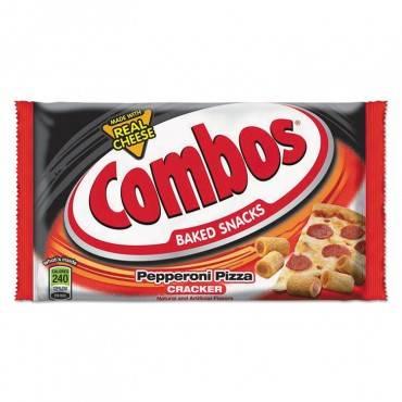 Combos Baked Snacks, 6.3 Oz Bag, Pepperoni Pizza Cracker, 12/carton