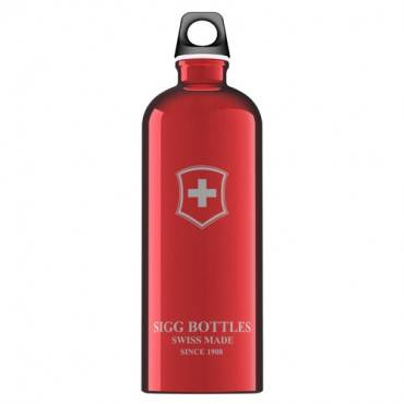 Sigg Water Bottle - Swiss Emblem - Red - 1 Liter