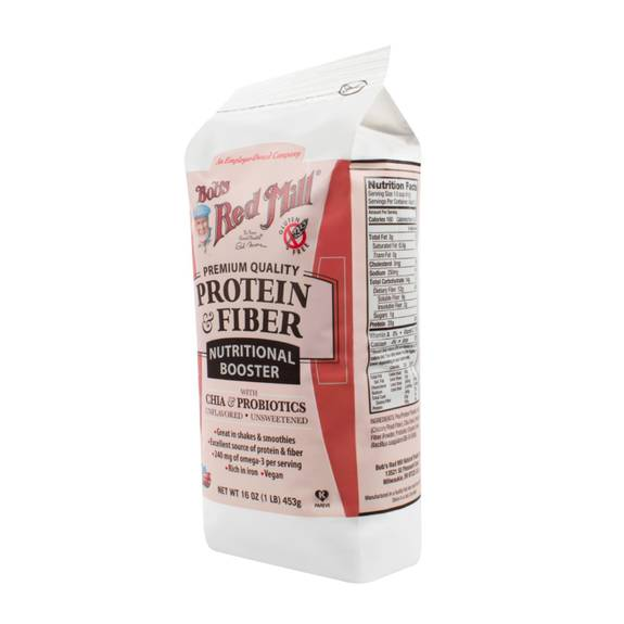 bob 39 s red mill protein and fiber nutritional booster 16 oz case of 4. Black Bedroom Furniture Sets. Home Design Ideas