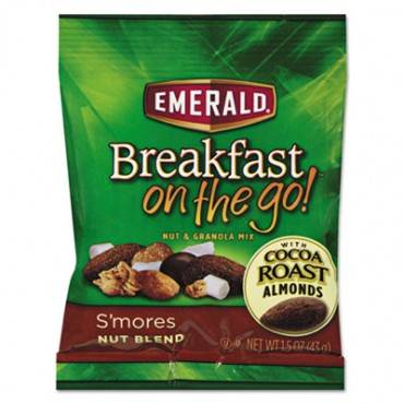 Breakfast On The Go, S'mores Nut Blend, 1.5oz Bag, 8/box