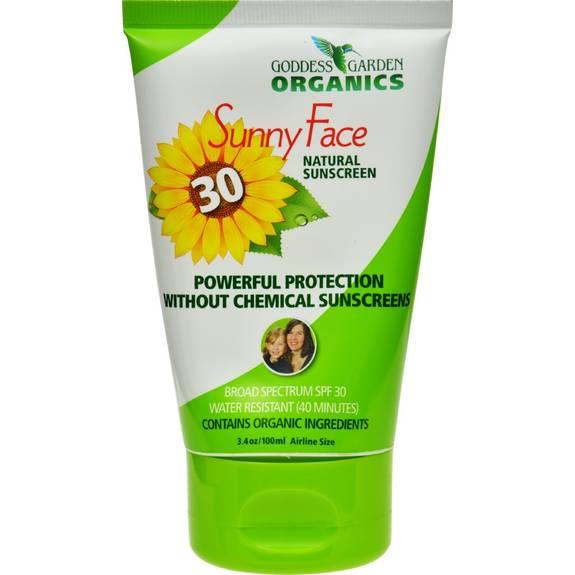 Goddess Garden Organic Sunscreen Facial Spf 30 Lotion 3 4 Oz
