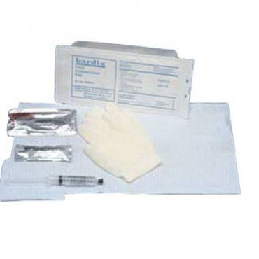 BARDIA Foley Insertion Tray with 30 cc Syringe and BZK Swabs Part No. 802130 Qty 1