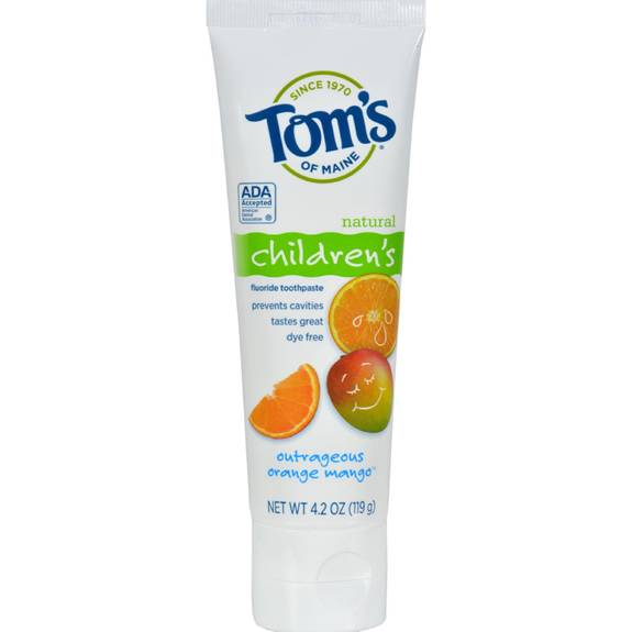 Tom S Of Maine Natural Orange And Mango Toothpaste