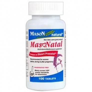 Masonatal compare to Stuart Natal Prenatal Tabs, 100 Count Part No. 1279-100 Qty 1
