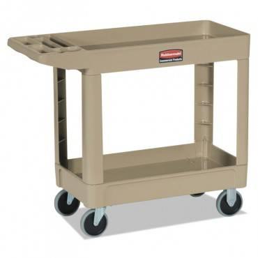 Heavy-Duty Utility Cart, Two-Shelf, 18 1/2w X 39d X 33h, Beige