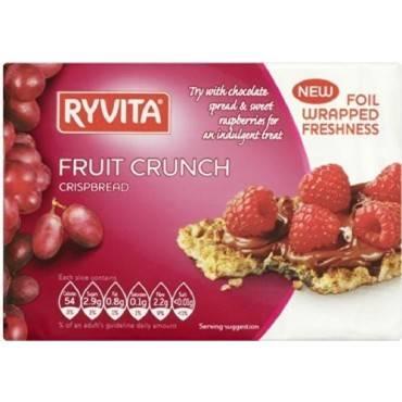 Ryvita Crisp Bread Crispbread - Currants, Seeds and Oats - Case of 8 - 7 oz.