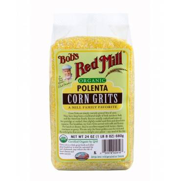 Bob's Red Mill Organic Corn Grits / Polenta - 24 oz - Case of 4