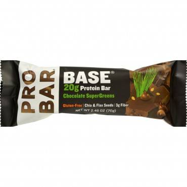 Probar Protein Bar - Base - Chocolate SuperGreens - 2.46 oz - 1 Case