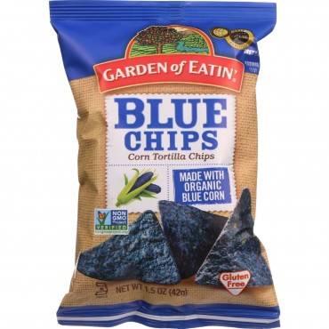 Garden Of Eatin Tortilla Chips - Organic - Blue Corn - Salted - 1.5 oz - case of 24