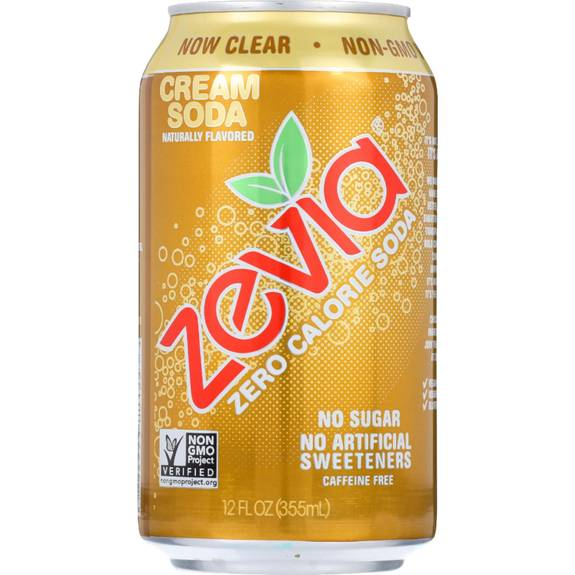 Can Cream Soda ~ Zevia soda zero calorie cream can oz